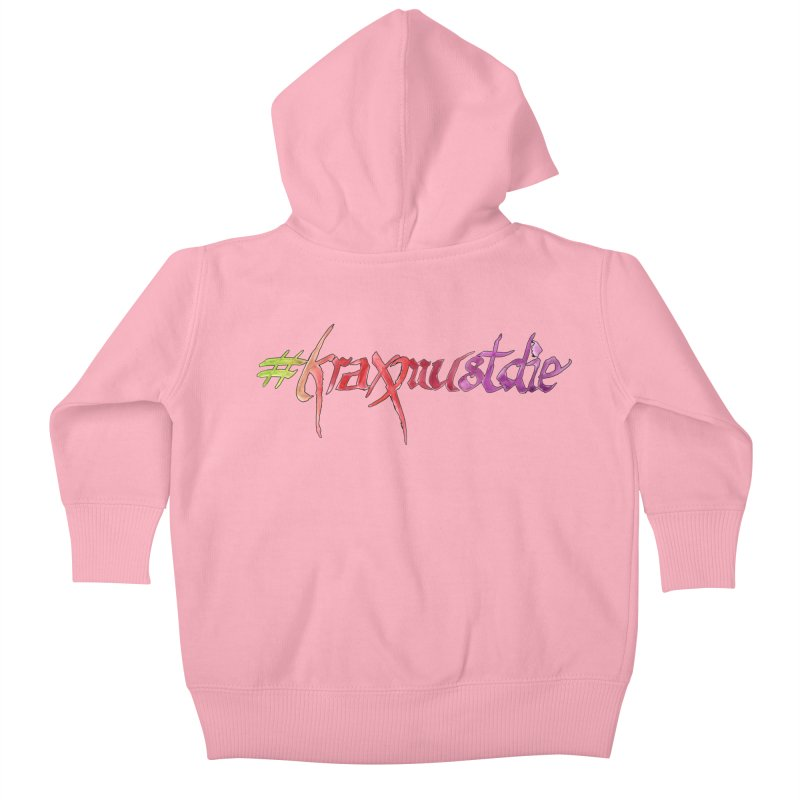 hashtag outlined (warm colors) Kids Baby Zip-Up Hoody by Yodagoddess' Artist Shop