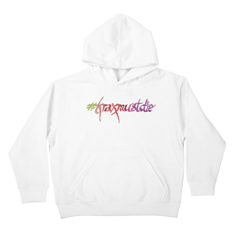 hashtag outlined (warm colors) Kids Pullover Hoody by Yodagoddess' Artist Shop