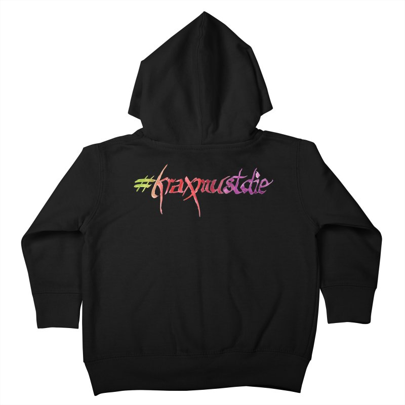 hashtag outlined (warm colors) Kids Toddler Zip-Up Hoody by Yodagoddess' Artist Shop