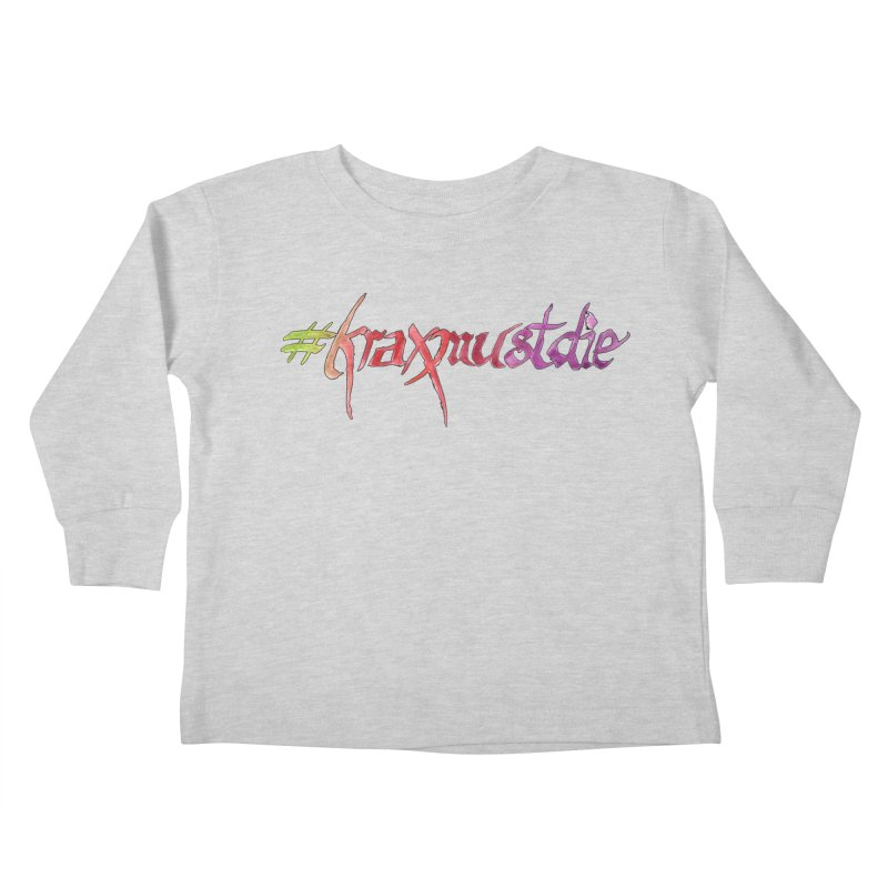 hashtag outlined (warm colors) Kids Toddler Longsleeve T-Shirt by Yodagoddess' Artist Shop