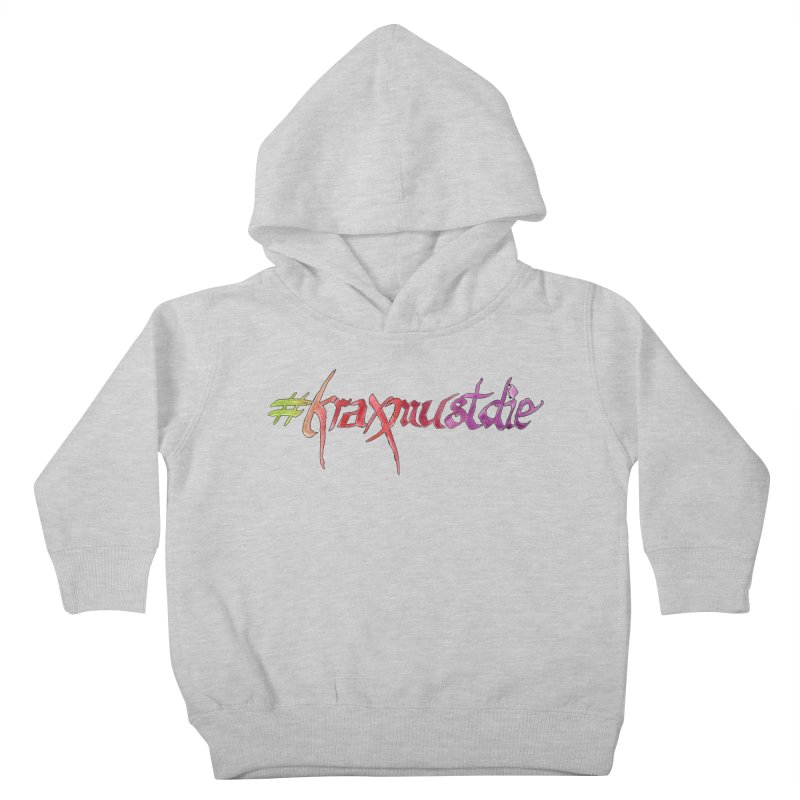 hashtag outlined (warm colors) Kids Toddler Pullover Hoody by Yodagoddess' Artist Shop