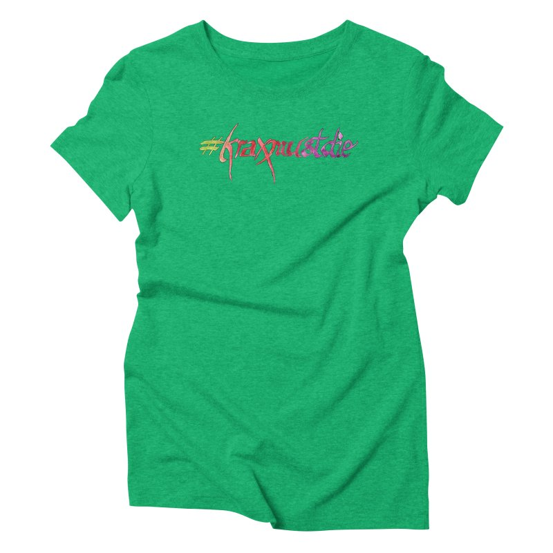 hashtag outlined (warm colors) Women's Triblend T-Shirt by Yodagoddess' Artist Shop
