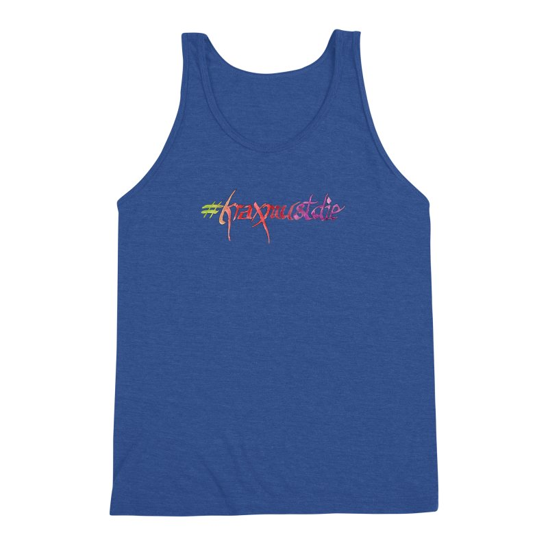 hashtag outlined (warm colors) Men's Triblend Tank by Yodagoddess' Artist Shop
