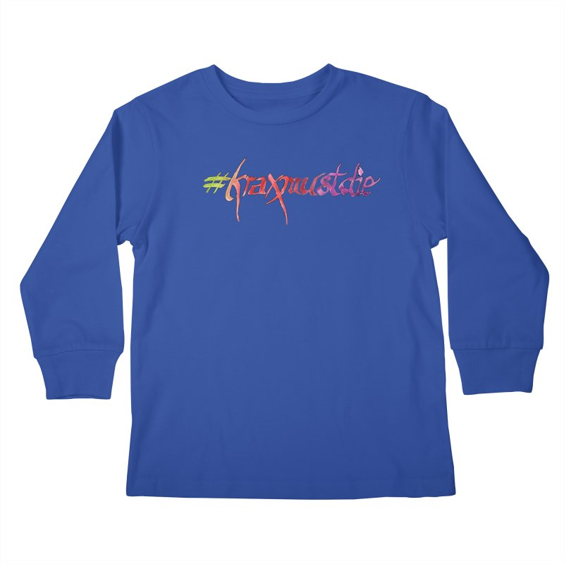 hashtag outlined (warm colors) Kids Longsleeve T-Shirt by Yodagoddess' Artist Shop