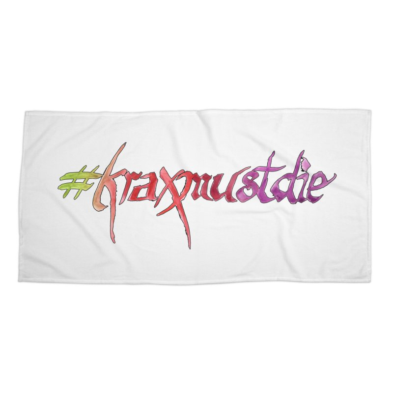 hashtag outlined (warm colors) Accessories Beach Towel by Yodagoddess' Artist Shop