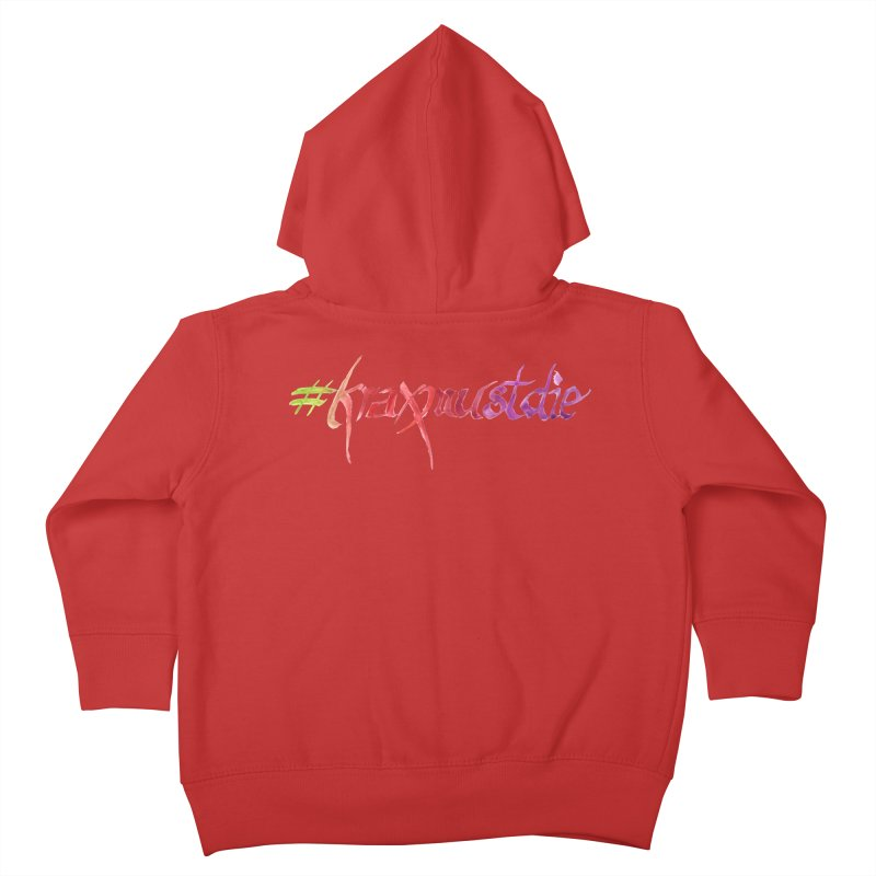 hashtag (warm colors) Kids Toddler Zip-Up Hoody by Yodagoddess' Artist Shop