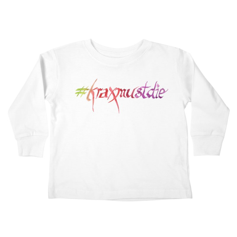 hashtag (warm colors) Kids Toddler Longsleeve T-Shirt by Yodagoddess' Artist Shop