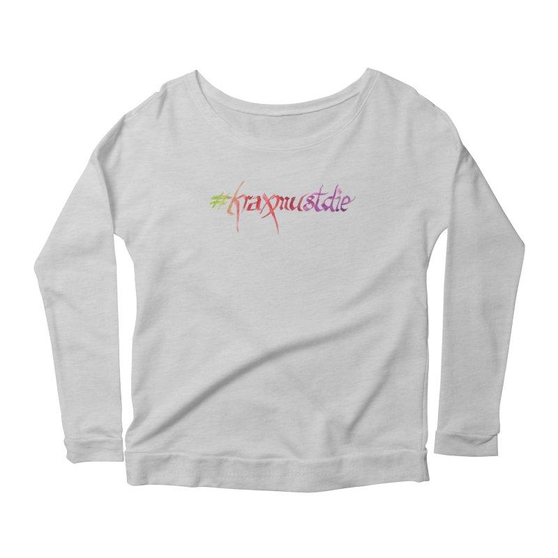 hashtag (warm colors) Women's Scoop Neck Longsleeve T-Shirt by Yodagoddess' Artist Shop