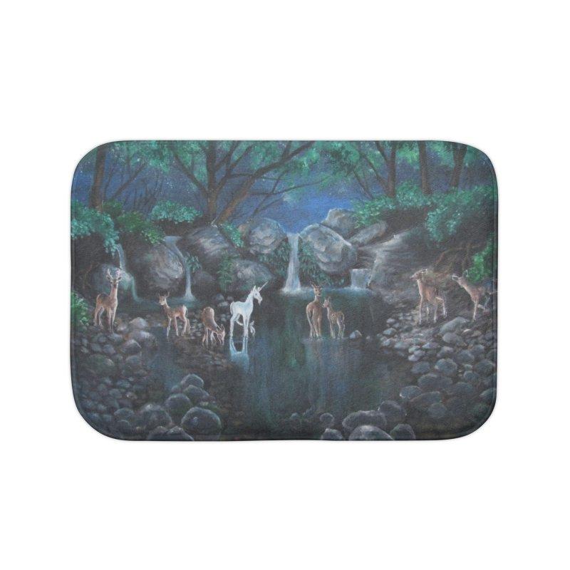 Unicorn Grotto Home Bath Mat by Yodagoddess' Artist Shop