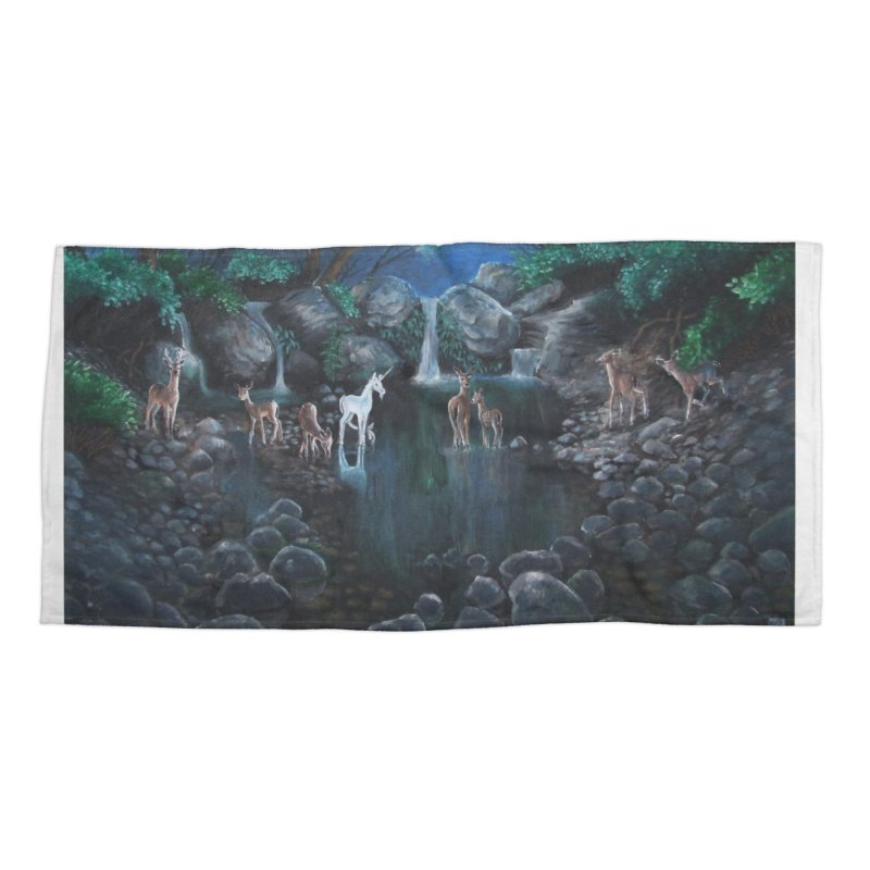 Unicorn Grotto Accessories Beach Towel by Yodagoddess' Artist Shop