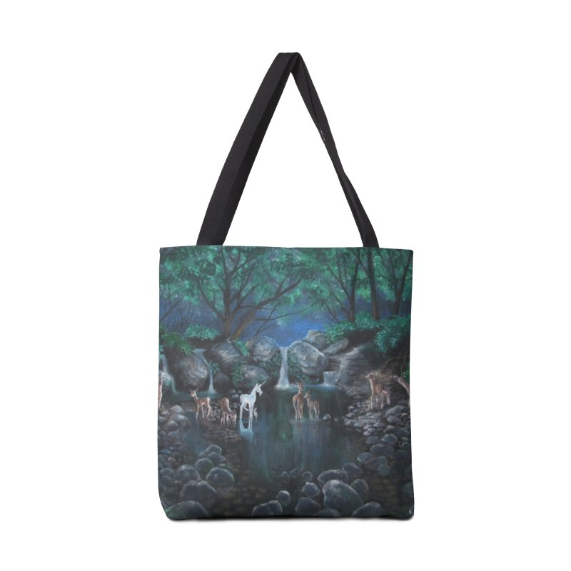 Unicorn Grotto Accessories Bag by Yodagoddess' Artist Shop