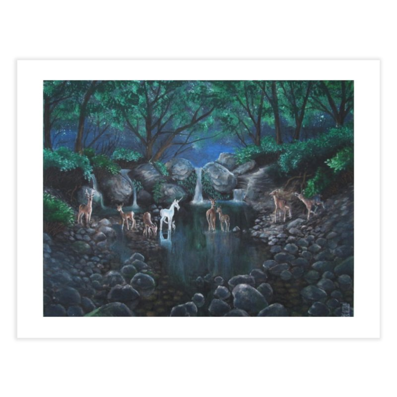 Unicorn Grotto Home Fine Art Print by Yodagoddess' Artist Shop