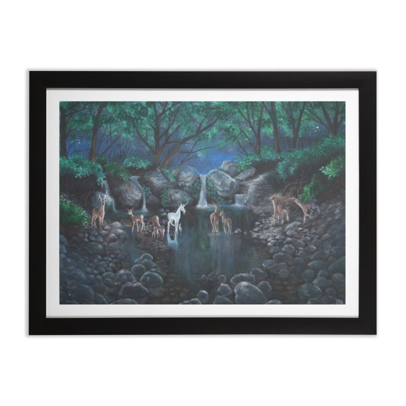 Unicorn Grotto Home Framed Fine Art Print by Yodagoddess' Artist Shop