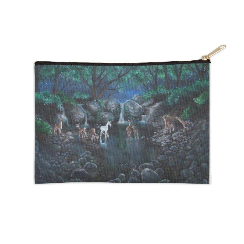 Unicorn Grotto Accessories Zip Pouch by Yodagoddess' Artist Shop