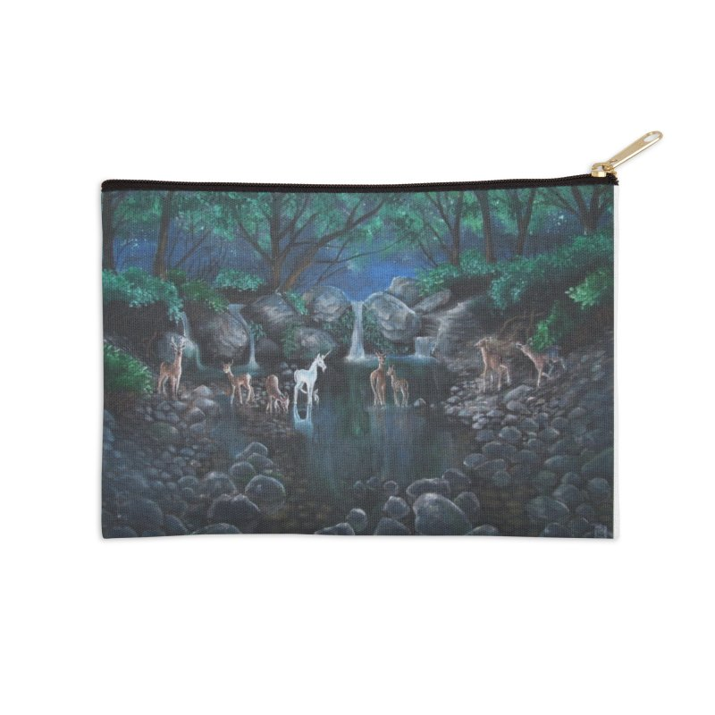 Unicorn Grotto Accessories Zip Pouch by Yodagoddess' Artist Shop
