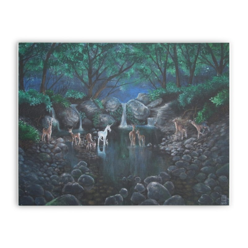 Unicorn Grotto Home Stretched Canvas by Yodagoddess' Artist Shop