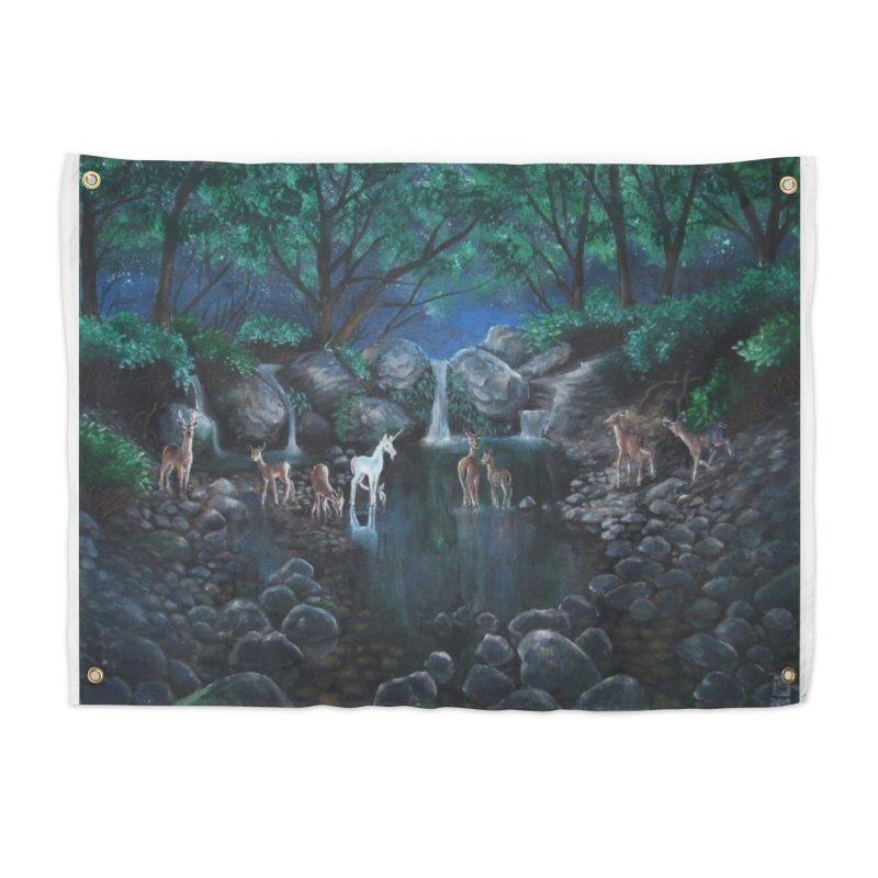 Unicorn Grotto Home Tapestry by Yodagoddess' Artist Shop