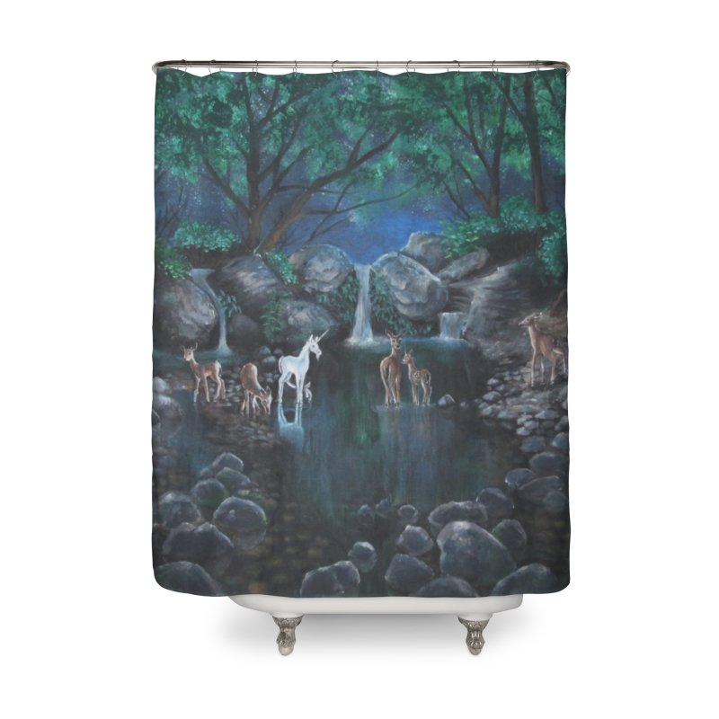 Unicorn Grotto Home Shower Curtain by Yodagoddess' Artist Shop