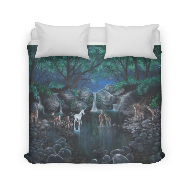 Unicorn Grotto Home Duvet by Yodagoddess' Artist Shop