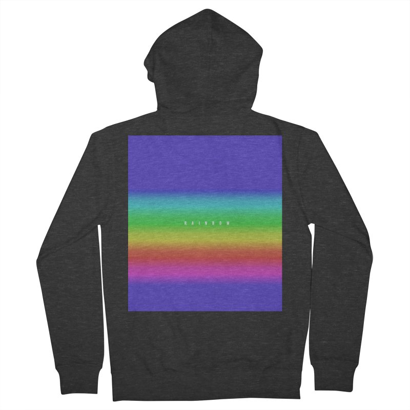 rainbow Men's Zip-Up Hoody by omelette