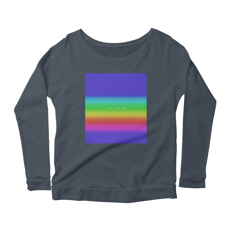 rainbow Women's Longsleeve Scoopneck  by omelette