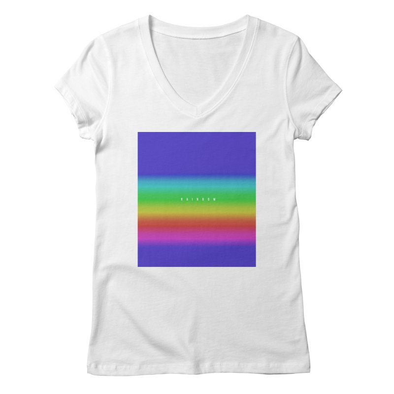 rainbow Women's V-Neck by omelette
