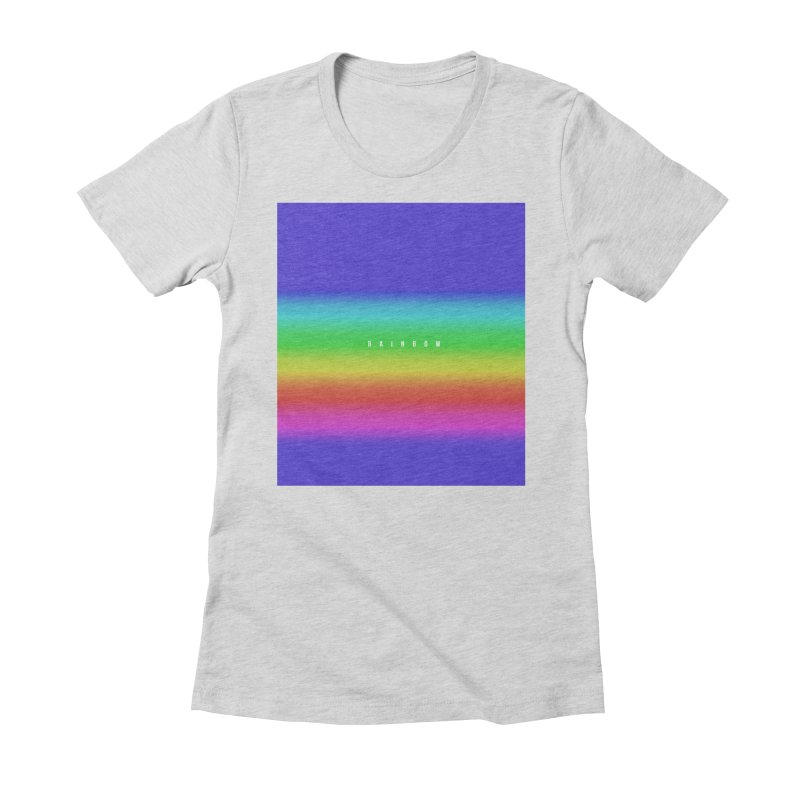 rainbow Women's Fitted T-Shirt by omelette