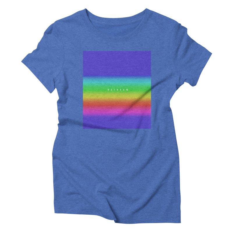 rainbow Women's Triblend T-shirt by omelette