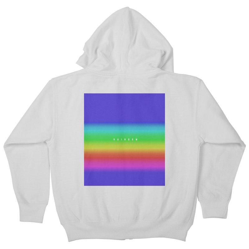 rainbow Kids Zip-Up Hoody by omelette