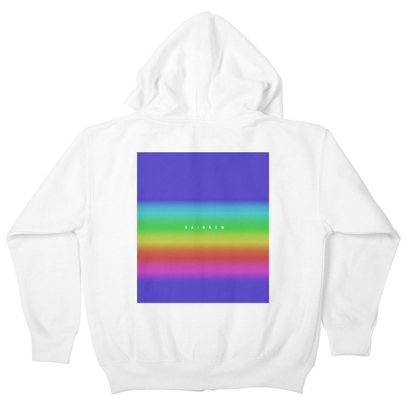 rainbow Kids Zip-Up Hoody by omelette