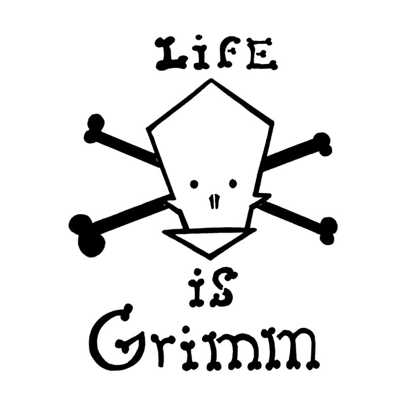 Life Is Grimm Men's Triblend T-shirt by POP COLOR BOT
