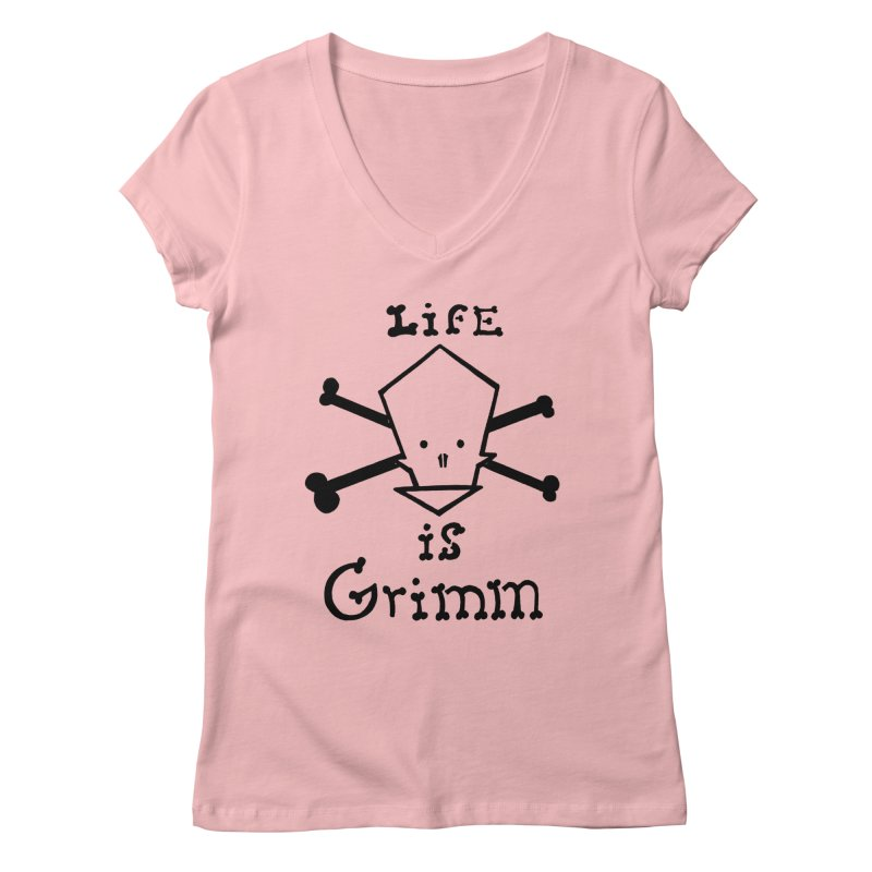 Life Is Grimm Women's V-Neck by POP COLOR BOT
