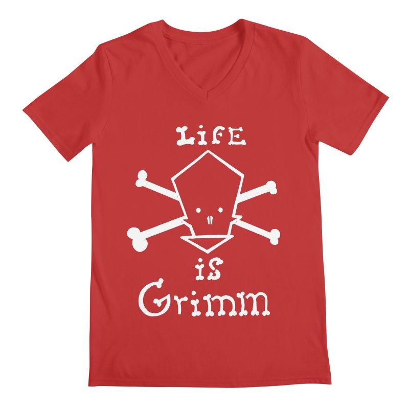 Life Is Grim  Men's V-Neck by POP COLOR BOT