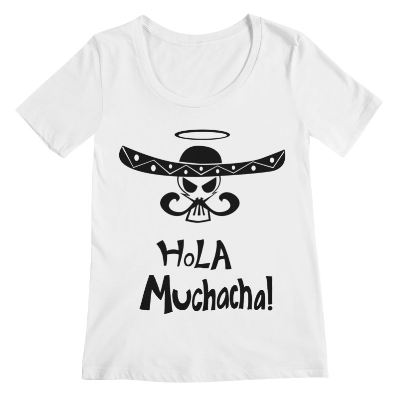 Marichi Hola! Women's Scoopneck by POP COLOR BOT