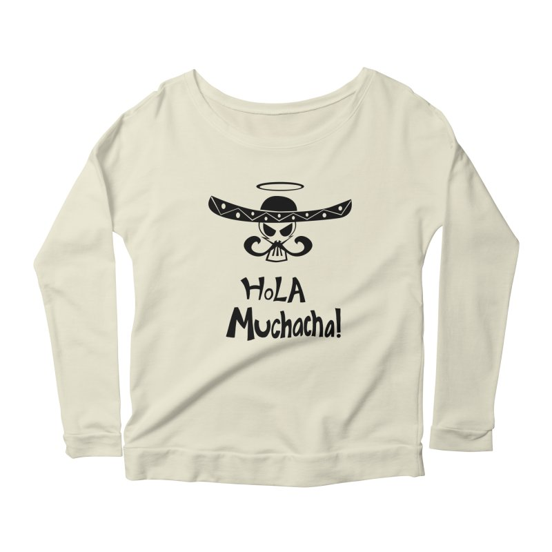 Marichi Hola! Women's Longsleeve Scoopneck  by POP COLOR BOT