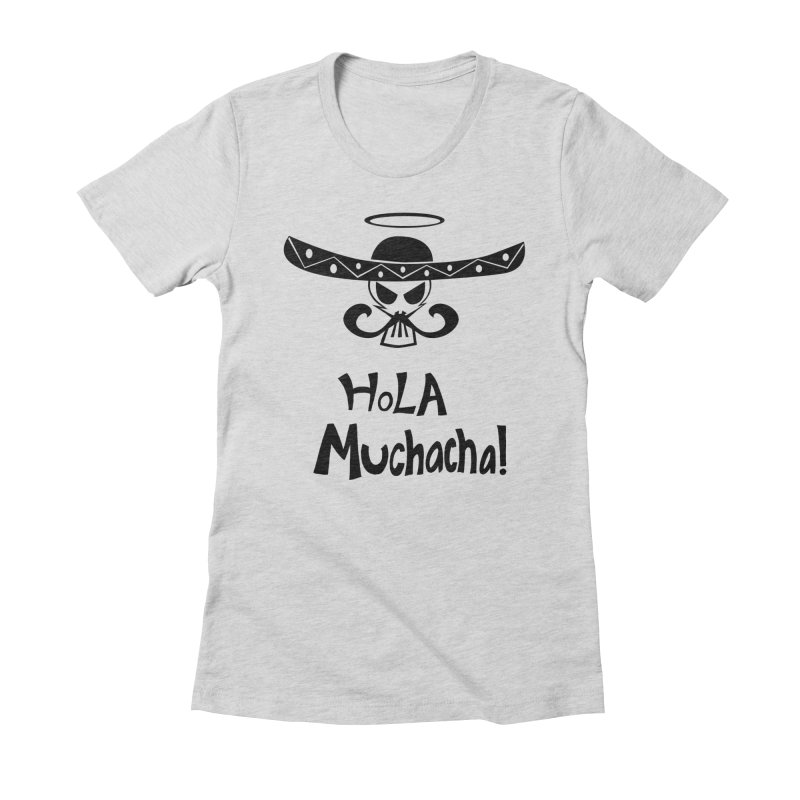 Marichi Hola! Women's Fitted T-Shirt by POP COLOR BOT