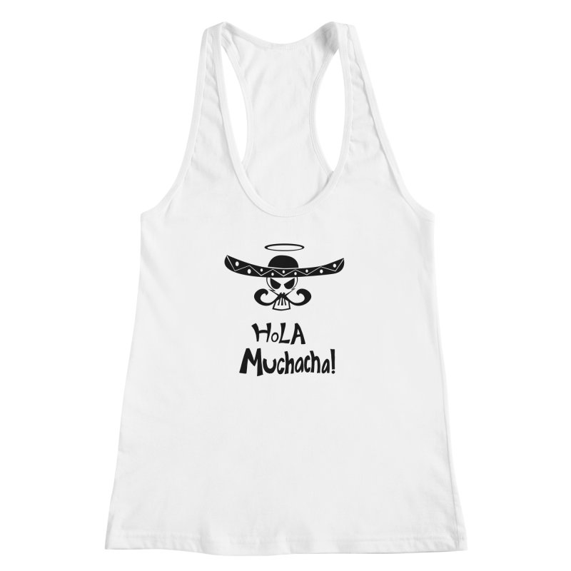 Marichi Hola! Women's Racerback Tank by POP COLOR BOT