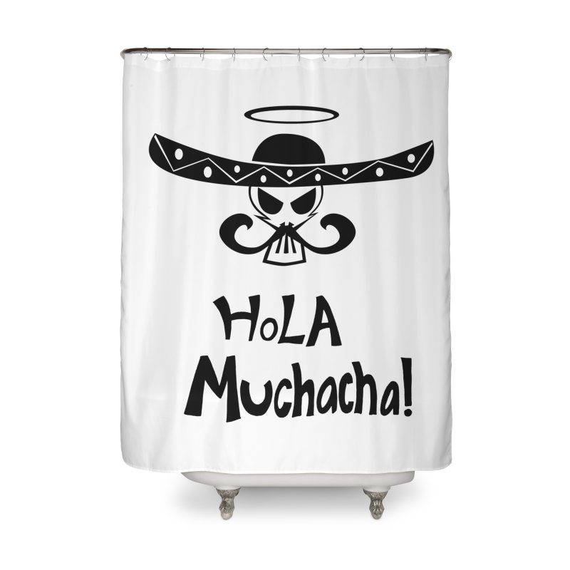 Marichi Hola! Home Shower Curtain by POP COLOR BOT