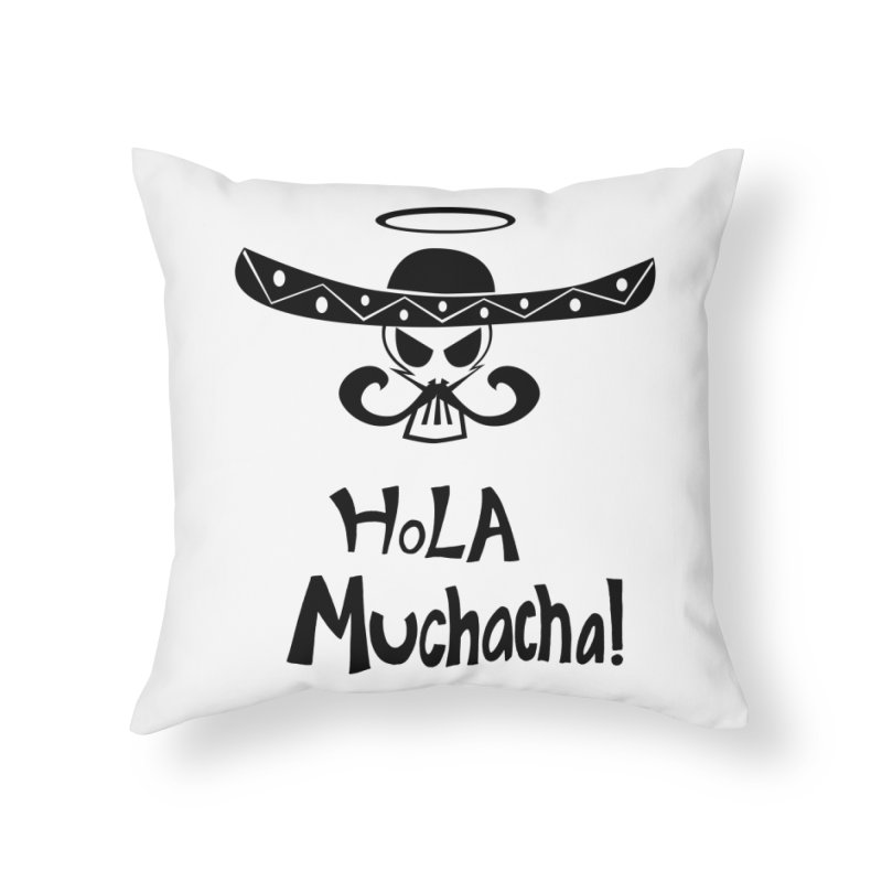 Marichi Hola! Home Throw Pillow by POP COLOR BOT