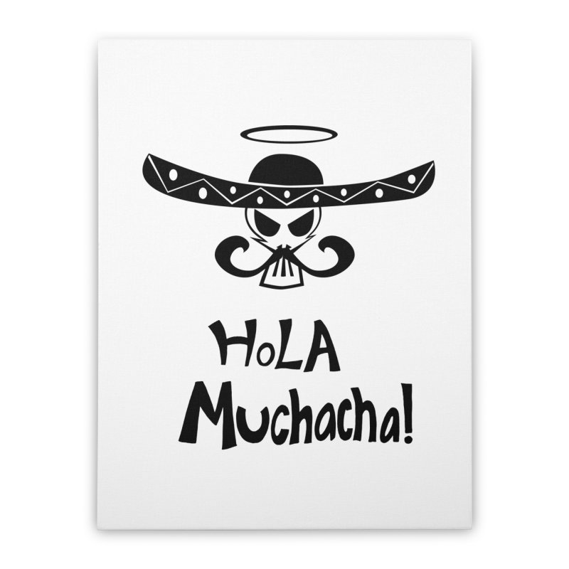 Marichi Hola! Home Stretched Canvas by POP COLOR BOT