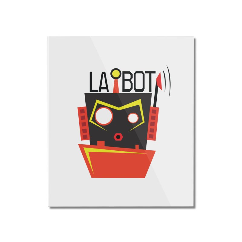 LA BOT Home Mounted Acrylic Print by POP COLOR BOT