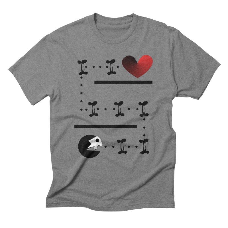 Pac-Deadly Men's Triblend T-Shirt by POP COLOR BOT