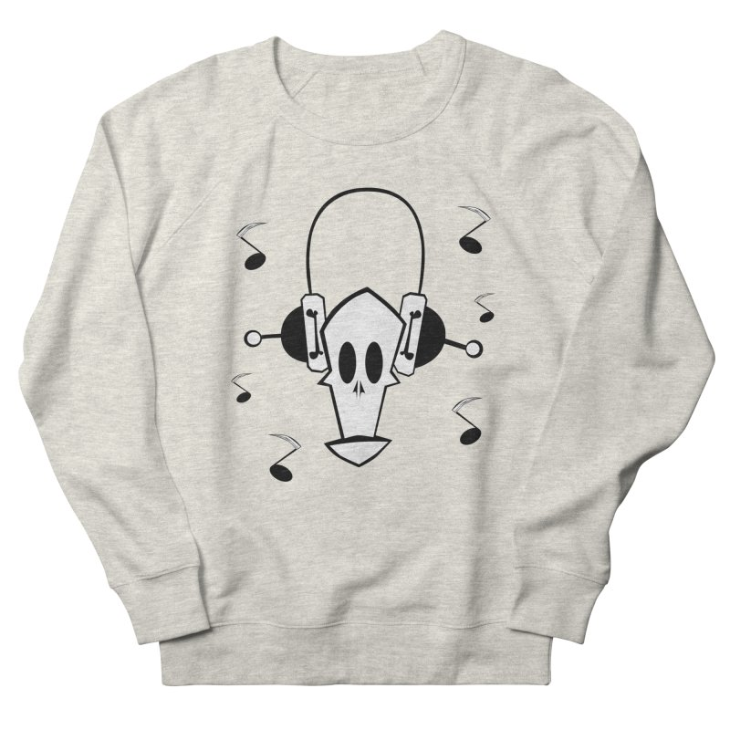 pop skull Women's French Terry Sweatshirt by POP COLOR BOT