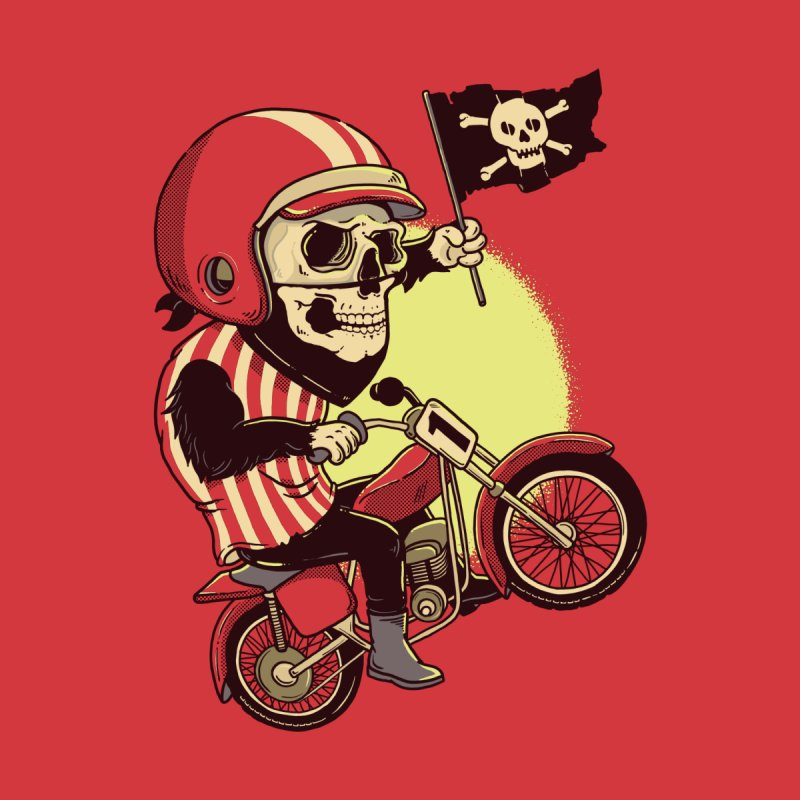 Skull Biker None  by yortsiraulo's Artist Shop