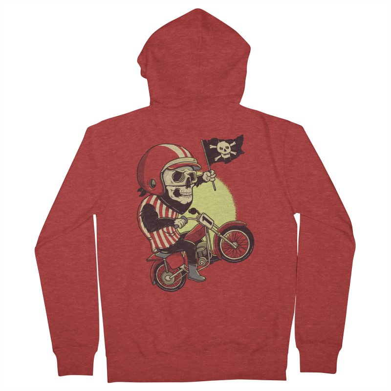 Skull Biker Women's Zip-Up Hoody by yortsiraulo's Artist Shop