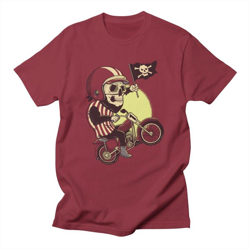 Skull Biker Men's T-Shirt by yortsiraulo's Artist Shop