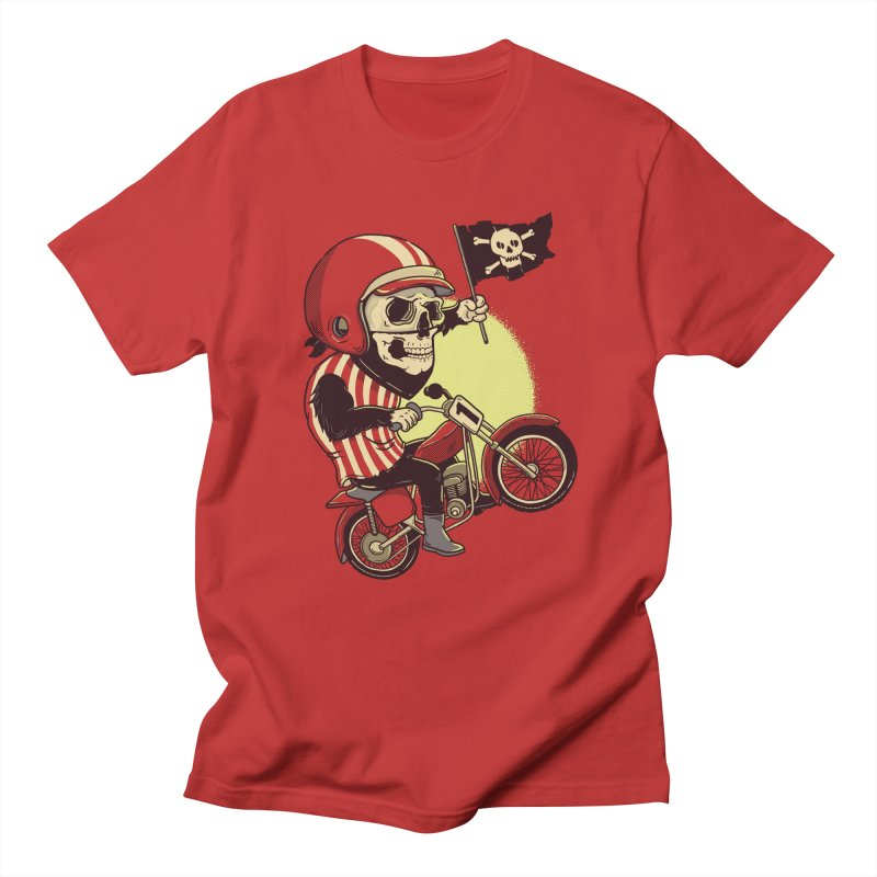 Skull Biker Men's T-shirt by yortsiraulo's Artist Shop