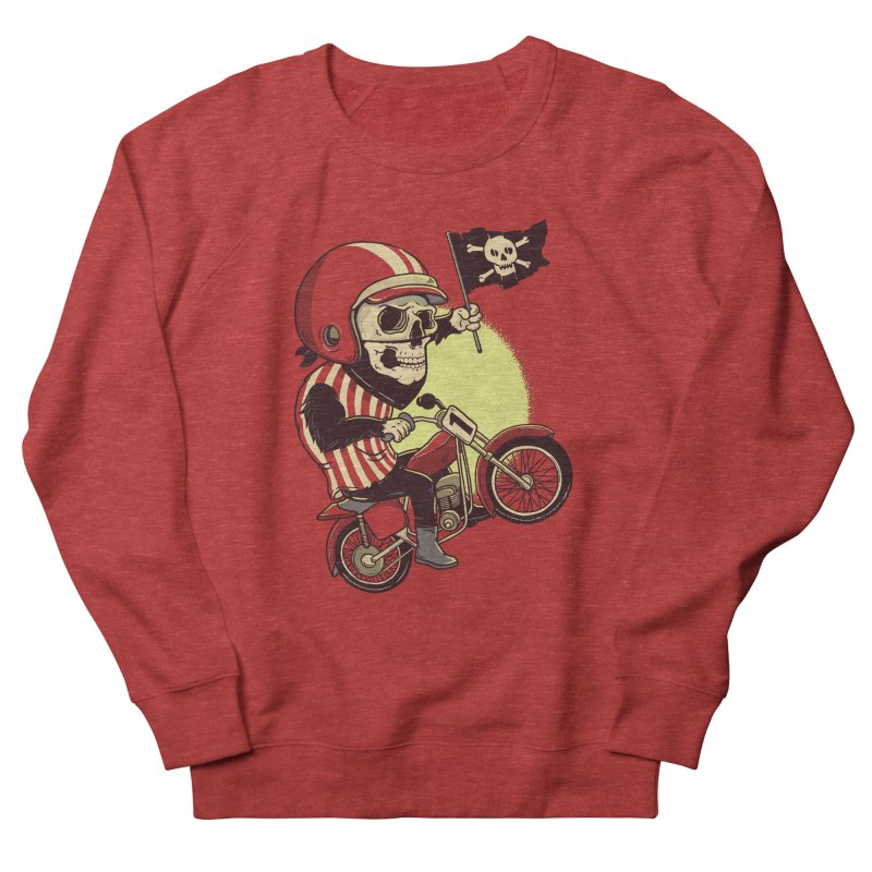 Skull Biker Women's Sweatshirt by yortsiraulo's Artist Shop