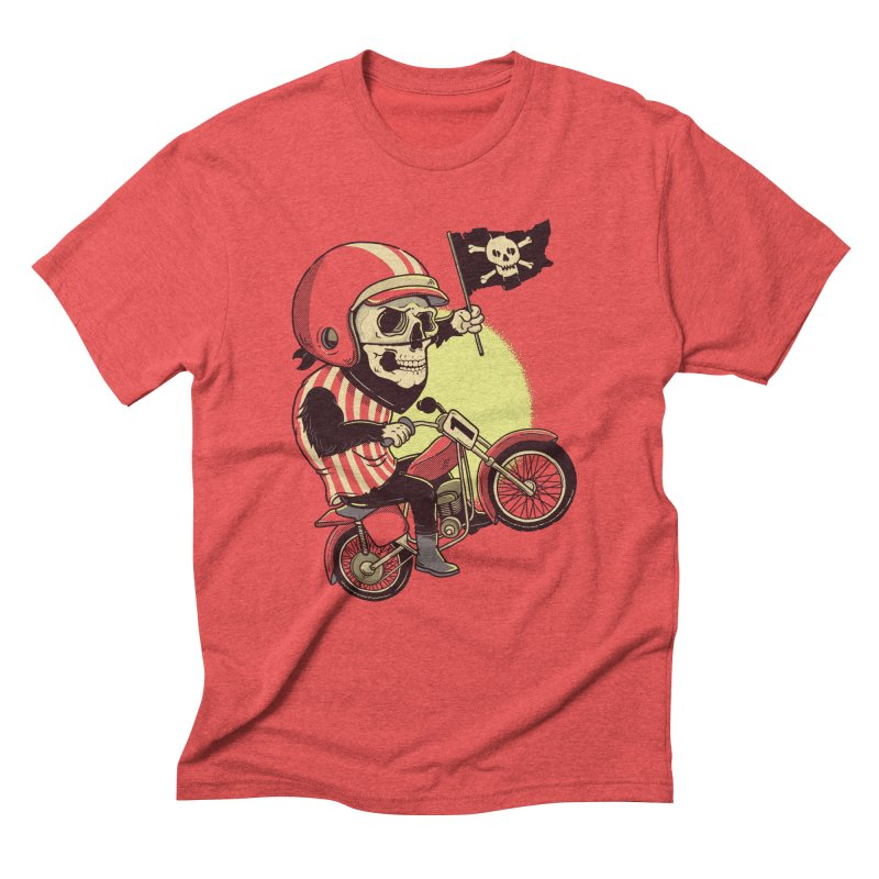 Skull Biker Men's Triblend T-shirt by yortsiraulo's Artist Shop