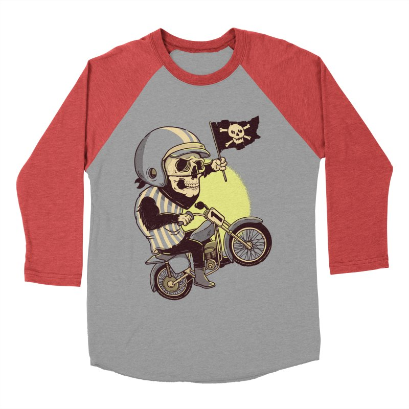 Skull Biker Men's Baseball Triblend T-Shirt by yortsiraulo's Artist Shop